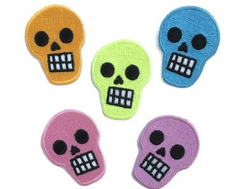 SKULL MINI PATCH - choose your color