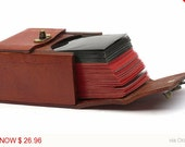 Leather Magic the Gathering Deck Box Holds 80 Sleeved Cards Magic Deck Box Pokemon Netrunner L5R