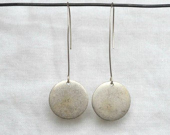 Tag Earring, Small Silver