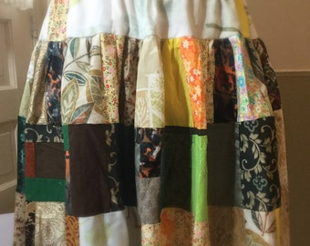 Plus Size Patchwork Skirt