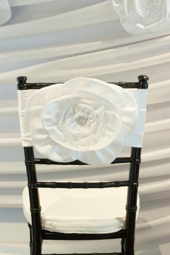 Magnolia Flower Wedding Chair Cover Chiavari Chair Cover