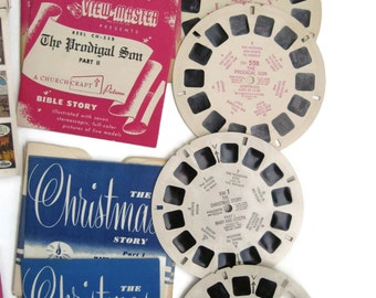 View master viewmaster disk reels Bible stories, Christmas lot set