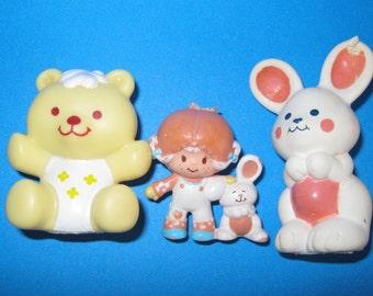 Strawberry Shortcake TLC lot Apricot Jelly Bear Hops a lot 1980s 80s toys eighties toys
