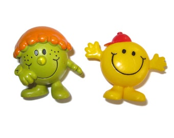 Little Miss Late Mr Bounce PVC figures Roger Hargreaves 1970s 70s toys Arby's fast food toys