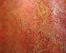 Pillowcase Glorious Red and Gold Pillow Cover