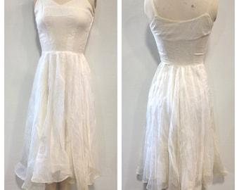 1950's White summer dress