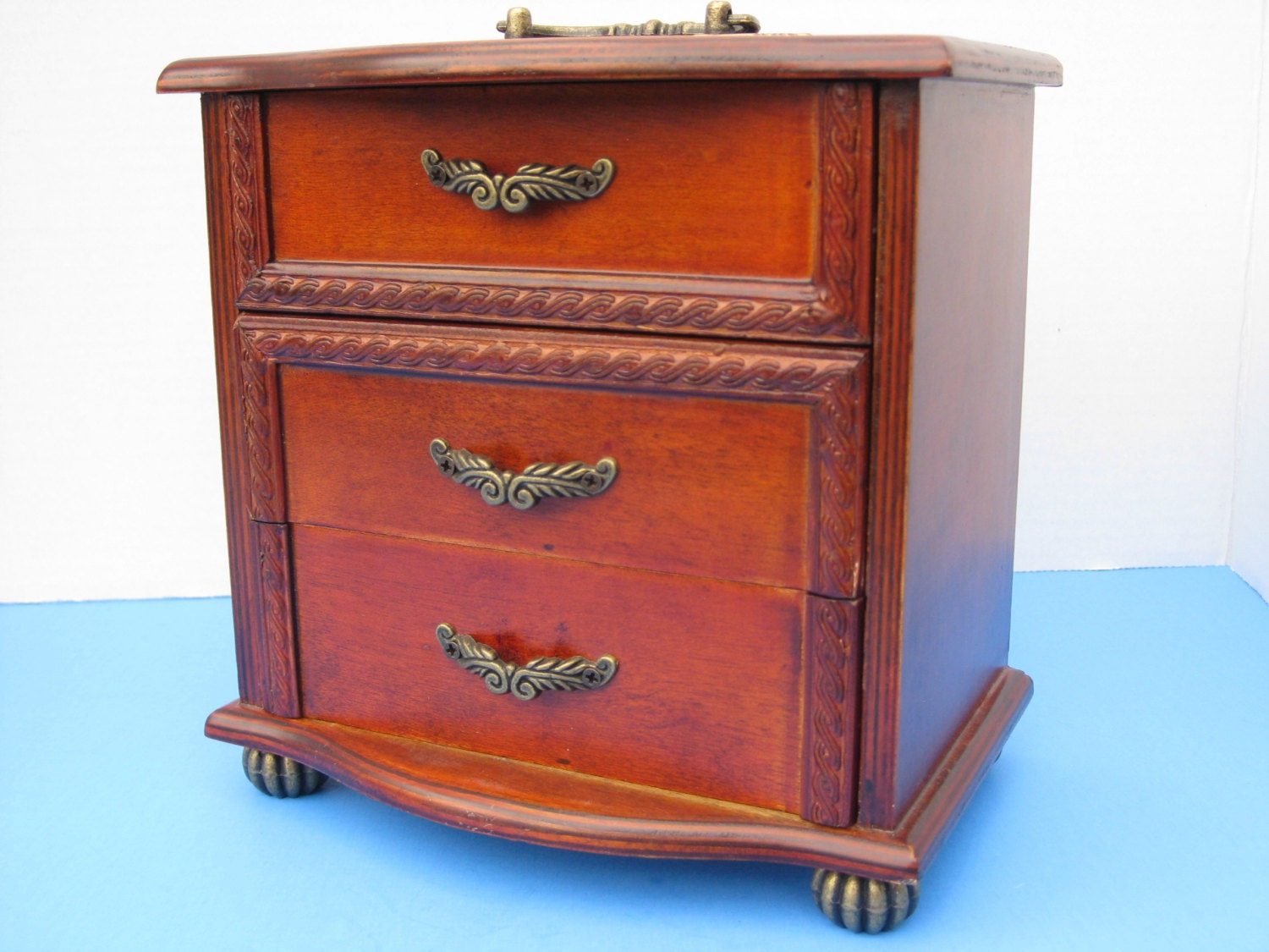 #027CC9 Vintage Small Handmade Wooden Chest Of Drawers Numbered Jewelry Box  with 1500x1125 px of Highly Rated Large Wooden Chest Of Drawers 11251500 picture/photo @ avoidforclosure.info