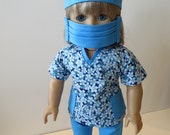 American Girl Doll Clothing; American Girl Doll Four Piece Scrubs Outfit; Doll Scrubs; American Girl Doll Nurse Outfit