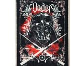 Darth Vader Crossed Lightsabers Patch Star Wars Art Apparel Iron-On Applique