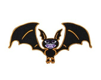 Halloween Vampire Bat Patch Kreepsville Art Craft Apparel Decor Iron-On Applique