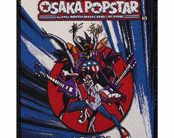 "Anime Rock Band ""Osaka Popstar: American Legends of Punk"" Album Art Sew On Applique Patch"