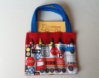 Rescue Vehicles Children's Crayon Bag, Birthday Party Favor