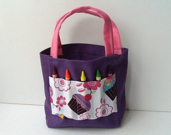 Cupcake Children's Crayon Bag and Birthday Party Favor