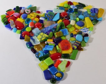 Mosaic Tiles, Assorted Bright Colors in Bits & Pieces of Fused Glass