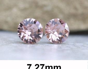 7.27mm, Vintage Rose Studs, Swarovski Xirius, Rhinestone Studs, Swarovski Earrings, Crystal Stud Earrings, Stud Earrings, Rhinestone Stud