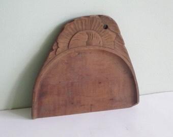 Vintage Carved Wood Water Gap PA. Advertising Souvenir Scoop