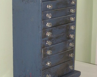 Antique 8-Drawer Industrial General Store Cabinet Storage Cabinet