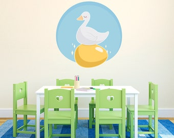 Golden Goose Wall Decal- Printed Wall Decal, Nursery Rhymes Decal, Nursery Rhymes Decor, Golden Goose , Kids Room Wall Decal, Golden Egg