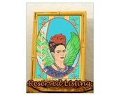 Reserved for J. Frida Bird of Paradise Print Fearless Artist of Life Mexican Fashion Icon Framed Gift