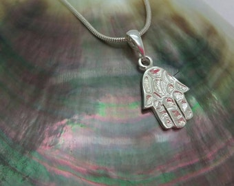 Hamsa-Pendant,925 Sterling Silver Antique Rare Style, Father 's day gift, Ancient Protection Amulet