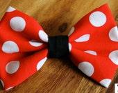 Minnie Mouse Bow Minnie Mouse Hair Bow Minnie Mouse Costume Women Minnie Mouse Costume Girls Minnie Mouse Costume Cute Rockabilly Pin up