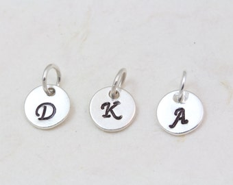 Add Sterling Silver  8mm disc or gold vermeil initial Disc to your Necklace