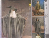 McCall's Costume Sewing Pattern 3789 - Gandalf, Witches and Wizards Costumes (3-8)