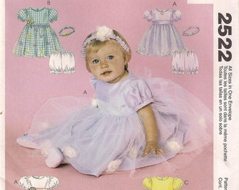 Simplicity Costume Sewing Pattern 2522 - Infant's Dresses, Panties, and Headband