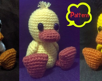 PATTERN: Custom Crochet Little Duck Amigurumi