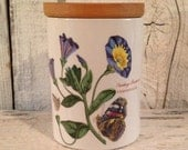 PORTMEIRION BOTANICAL English canister/coffee, tea, biscuits, dog treats