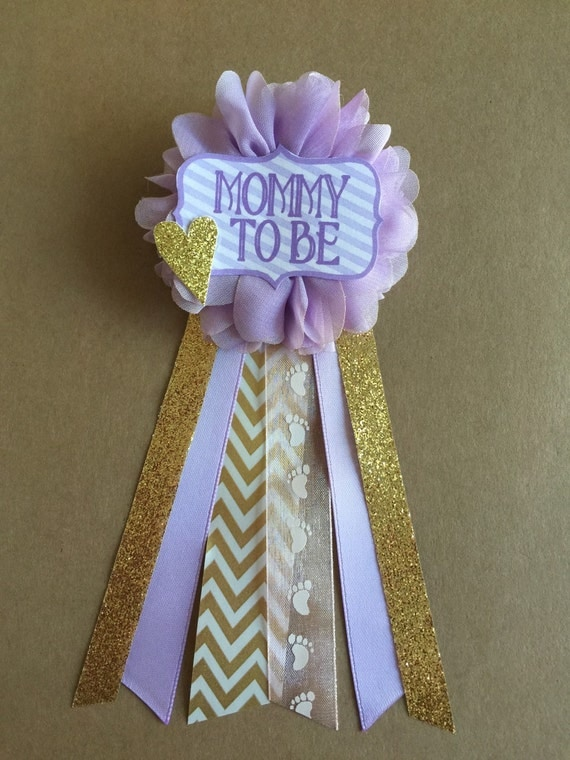 baby shower corsage baby shower pin mommy to be pin flower ribbon pin