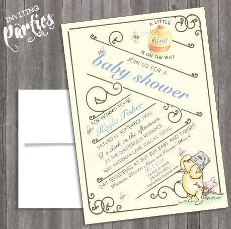 vintage classic winnie the pooh baby shower or vintage