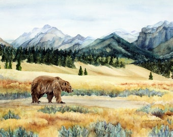 Yellowstone Grizzly in the Lamar Valley