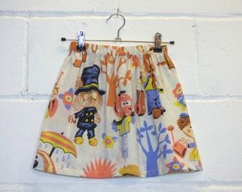 Upcycled Magic Roundabout girls Skirt