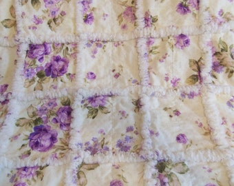 Lap Quilt, Blanket, Throw, Shabby Chic, Ragged