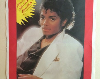 Vintage Michael Jackson poster 1980's Thriller