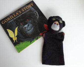 Gorilla Fleece Hand Puppet -- Large Safe Soft Handmade