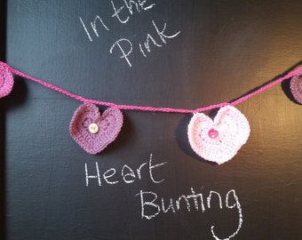 In the Pink Heart Bunting