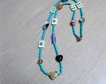 Beaded Mahjong Necklace