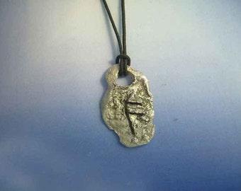 rune viking Ansuz Ansur As Ass Os sterling silver 925 pendant escandinavian charm necklace amulet