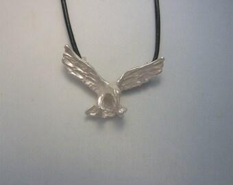 eagle pendant charm amulet sterling silver 925 necklace