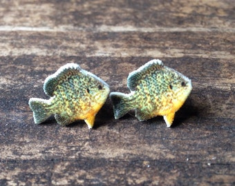 Pumpkinseed sunfish earrings jewelry fish fishing sport sun fish