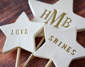 PERSONALIZED Love Shines - Star Wedding Cake Topper