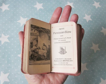 Antique french LITTLE missel, Religious book, Paroissien, 1929, France, Vintage