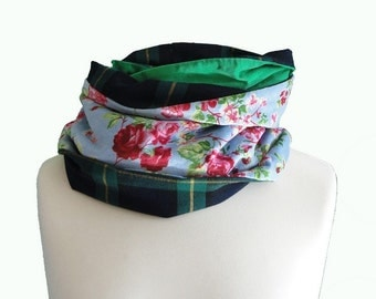 """Infinity scarf / Man Neck scarf /  Man snood one of a kind Christmas gift for men """"Fritz"""""""