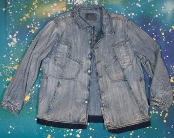 MARITHE Francois GIRBAUD Denim Jacket Size M