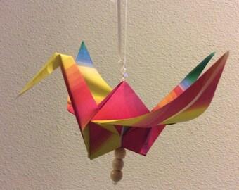 Origami peace bird