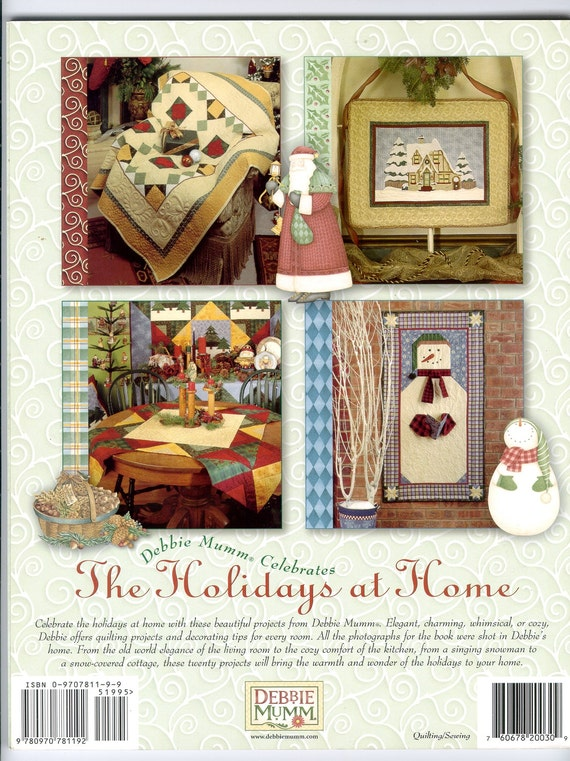 Quilt Pattern Book Christmas Holiday Quilts Decorating How