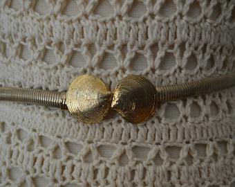 1950s Gold Seashell Belt