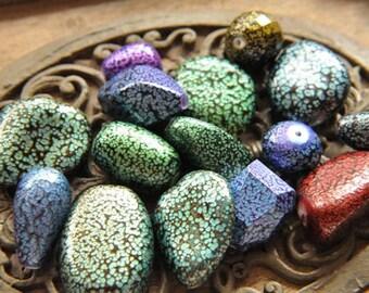 8pcs mixed color diferent shape bead